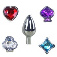 China 4 Styles Poker Detachable Jewelry Butt Plug Erotic Toys Metal Anal Plug Butt Plug Beads Adult Sex Toys for Beginner on sale