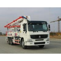 China Safety Electronically Control Concrete Pump Truck Strong Stability With HOWO Chassis on sale