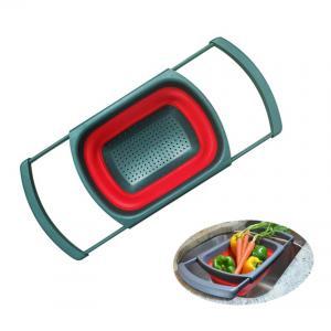 Kitchen Collapsible Colander Over The Sink Strainer 6 Quart Capacity Dishwasher Safe BPA Free