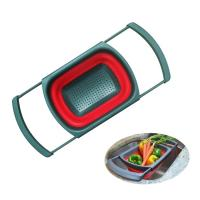 Buy Kitchen Collapsible Colander Over The Sink Strainer 6 Quart Capacity Dishwasher Safe BPA Free at wholesale prices