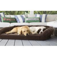 Quality Luxury Suede Memory Foam Orthopedic Dog Bed , Non - Slip Bottom Orthopedic Egg Crate Dog Bed for sale