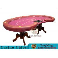 Buy High Density Texas Holdem Poker Table, Casino Style Poker TableWith Soft Touch at wholesale prices