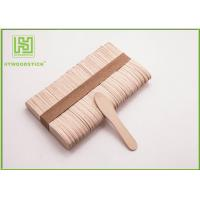Buy Large Ice Cream Popsicle Sticks , 75mm Jumbo Paddle Pop Sticks Non - Waxed at wholesale prices