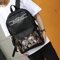 China Wholesale Men Casual Backpack School Bag For College Students Canvas Camouflage Youth Backpack on sale