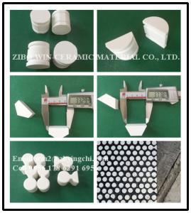Quality 92% 95% alumina customized trapezoidal wear ceramic tile lining for sale