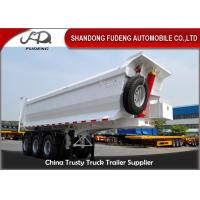 Quality 3 Axle Dump Semi Trailers  , Hydraulic Cylinder Tipping / Tipper Trailer for sale