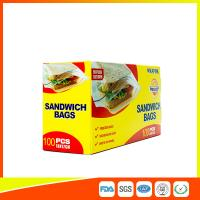 Buy cheap Food Grade Plastic Clear Recyclable Sandwich Bags , Reusable Bag With Zipper from Wholesalers