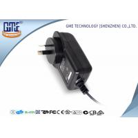 China AC DC Wall Plug Adapter 12V 2A / Wall Mount Power Supply Black Color on sale