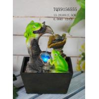 Buy Green Polyresin Frog Water Fountain With Revolving Ball 13.2 X 10 X 17.5 Cm at wholesale prices