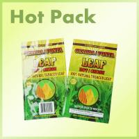 Laminated Foil Three Side Seal Pouches Bag For Tobacco Leaf With Tear Notch