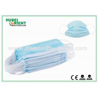 Quality Blue Medical 3 Ply Face Mask / Disposable Earloop Face Mask For Hygienic Application for sale