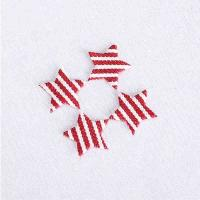 Quality Gingham Fabric Ultrasonic Embossing Flowers Crafts Applique DIY Decoration for sale