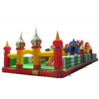 Quality Durable Inflatable Fun City / Bouncy Castle Playground For Kindergarten for sale