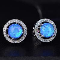 Quality Factory direct price top design jewelry colorful fancy stud synthetic opal earring for sale