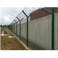 Quality Metal Materials Green / Steel Security Fencing500g/M2 Zinc Coating Anti Intruder for sale