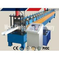 Quality Rain Gutter Roll Forming Machine PLC Control 0.4 - 0.6mm Thickness for sale
