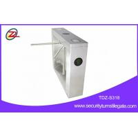 304 Stainless Steel Gate Turnstile , Fingerprint Tripod Gate With Counter Function