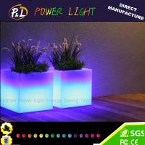 Garden Plastic Led Cube Flowerpot 40 × 40 × 40 cm with Remote Control