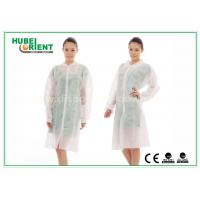 Quality Dental Medical Tyvek Disposable Lab Coats / Plus Size Lab Coats Breathable For Body for sale