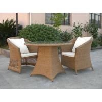 Quality Outdoor Rattan Furniture Sofa Chair Set For Garden / Patio Brown for sale