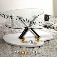 Quality Irregular Shape Tempered Glass Table Top / Glass Dining Room Sets for sale
