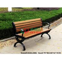 Quality Park Outdoor Patio Bench With Back No Painting , Antisepsis Recycled Plastic Benches for sale
