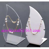 Quality High Polished Acrylic Necklace Display Stand / Acrylic Necklace Display Rack for sale