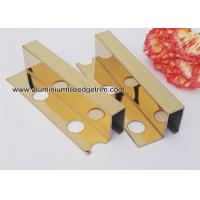 Quality Box Section Stainless Steel Tile Trim , Square Edge Interior Decorative Profile For Tile Edge for sale