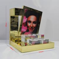 Buy LED Acrylic Perfume Retail POS Displays With Gold Magnetic Levitation at wholesale prices