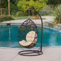 Quality Hot sale single seat Resin Wicker hanging Chair Patio Swing Chair for sale