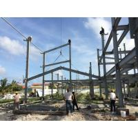 2 Floor Steel Framed Buildings Warehouse Steel Structure With Alkyd Grey Paint in Maldive