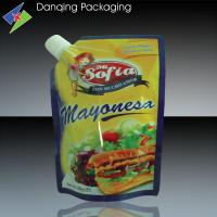 Quality Professional Tomato Paste Bags     Stand Up Pouches With Spout For Sauce Packaging for sale