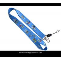 Quality Full blue colors heat transfer printed lanyard for sale, custom sublimation lanyards for sale