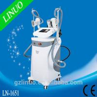 Quality LN-1651 2 cryo handsets cavitation RF fat freeze slimming machine for sale