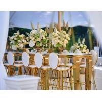 China Wedding Party Event Stainless Steel Bar Stool for Dining Room Bar on sale