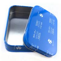 China Rectangular Practical Custom Tin Box Electronics Packaging Cans Offset Printing for sale
