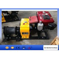 Quality Tower Erection Mechanical Device Diesel Cable Winch 8 Ton With 10HP Diesel Engine for sale