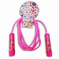 China Plastic Handle Jump Rope in Various Colors, Available in Size of 26 x 13 x 3cm on sale