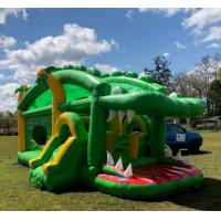 Quality Crocodile Inflatable Bounce House Combo Double Stitching For Family Center for sale