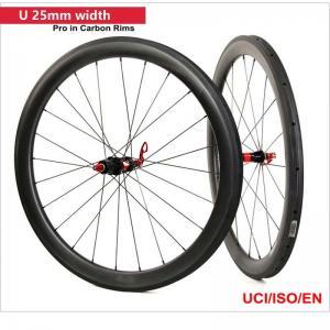 Quality 50mm Clincher Carbon Road Bike Wheels UD Matt Paiting 3k/12k Matt / Glossy Finish for sale