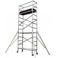 China Silver Color Aluminum Mobile Scaffolding Tower For Construction /  Decoration on sale