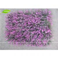 China GNW BOX015 Violet color Plastic Boxwood Mat Indoor Artificial Grass Plants Decorative Greensward on sale