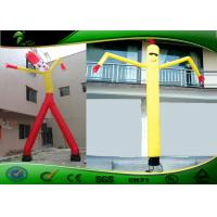Digital Printing 10mH Inflatable Air Dancers , Inflatable Wavy Arm Guy