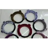 Quality Multi Color Fuzzy Car Steering Wheel Covers 38CM SGS Certification For Car / Truck for sale