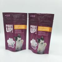 Water Proof Stand Up Zipper Bags Cat Food Pouches With Tear Notch