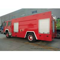 China Sino HOWO 10cbm Pumper Fire Truck / Fire Department Vehicles 8000-10000 L on sale