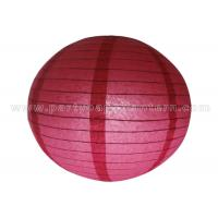 Quality Single Color Round Chinese Paper Lantern for sale