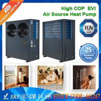 China 380v High COP EVI Scroll Compressor Low Ambient Heat Pump With Galvanized Steel Cabinet on sale