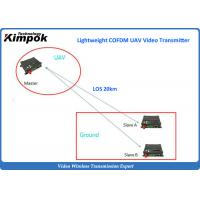 China Long Range UAV Video Link with RS232 / RS485 Duplex IP Wireless Video Transceiver on sale