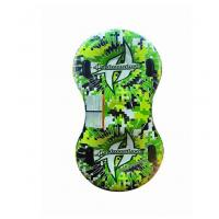 Green Inflatable Snow Tube Loading Two People Round Snow Sled For Exciting Pool Activities
